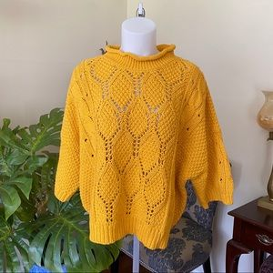 Stefanel Yellow Knitted Sweater